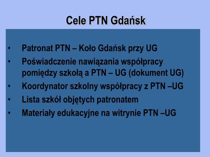 Cele PTN Gdańsk