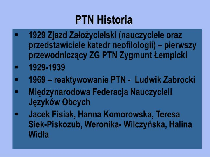 PTN Historia