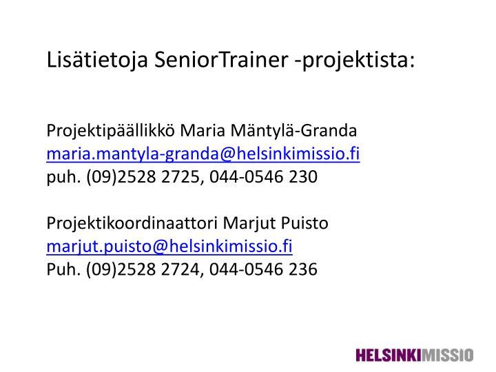 Lisätietoja SeniorTrainer -projektista: