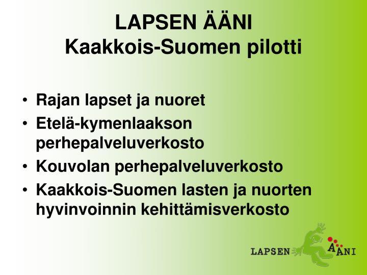 LAPSEN ÄÄNI
