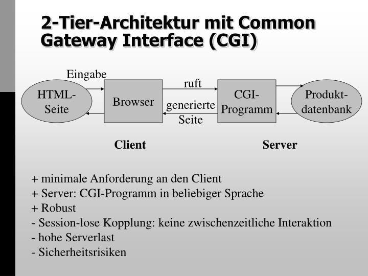 2 tier architektur mit common gateway interface cgi