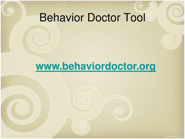 Behavior Doctor Tool