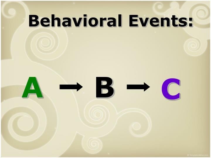 Behavioral Events: