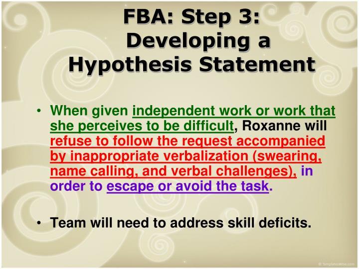 FBA: Step 3: