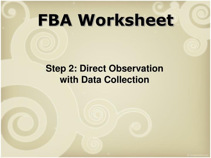 FBA Worksheet