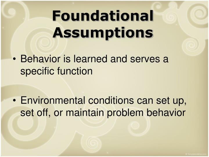 Foundational Assumptions