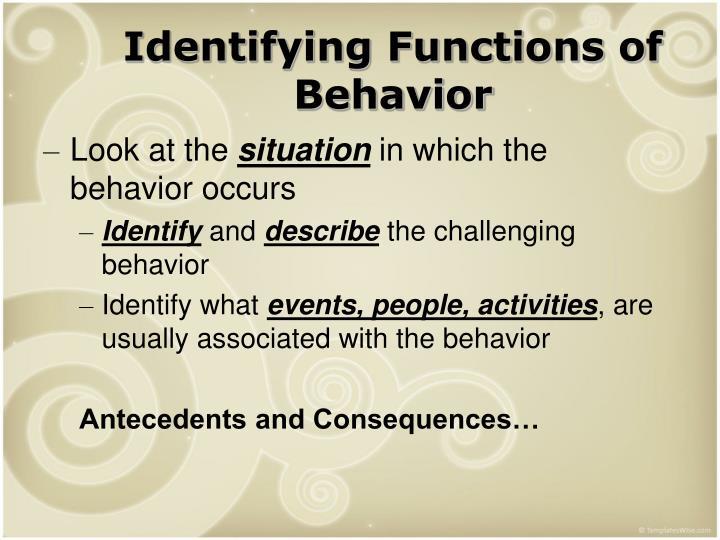 Identifying Functions of Behavior