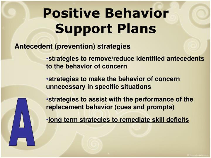 Positive Behavior Support Plans