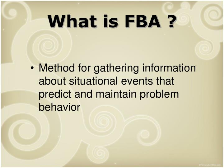 What is FBA ?