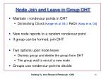 node join and leave in group dht