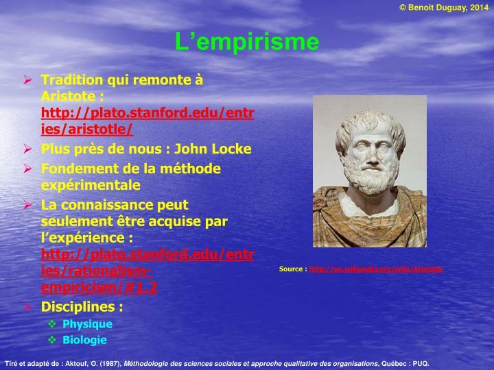 L'empirisme