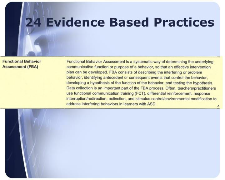 24 Evidence Based Practices