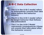 a b c data collection