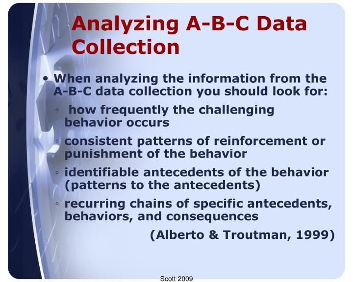 Analyzing A-B-C Data Collection