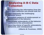 analyzing a b c data collection