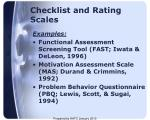 checklist and rating scales1