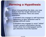 forming a hypothesis1
