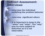 indirect assessment interviews