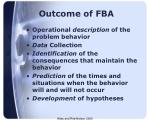 outcome of fba