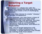 selecting a target behavior1