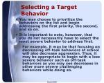 selecting a target behavior2