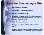 steps for conducting a fba