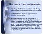 the team then determines