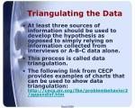 triangulating the data