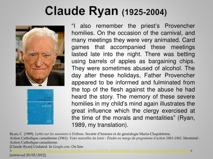 Claude Ryan