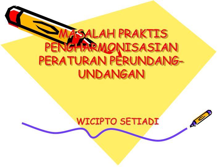 MASALAH PRAKTIS