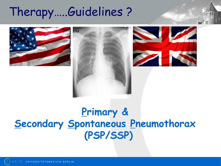 Therapy…..Guidelines ?