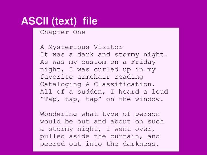 ASCII (text)  file