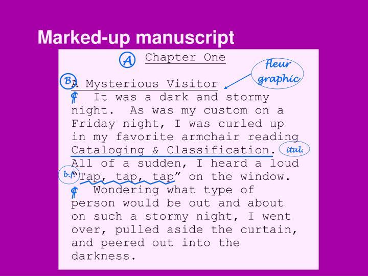 Marked-up manuscript