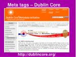 meta tags dublin core