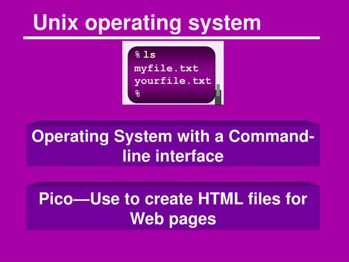 Unix operating system