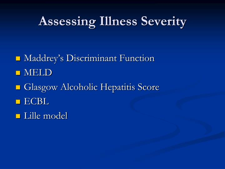 Assessing Illness Severity