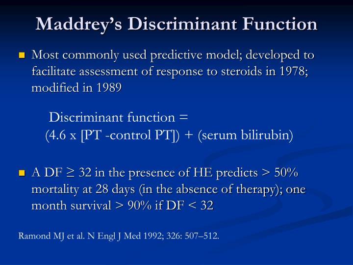 Maddrey's Discriminant Function