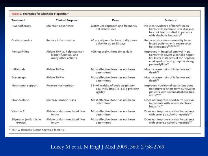 Lucey M et al. N Engl J Med 2009; 360: 2758-2769