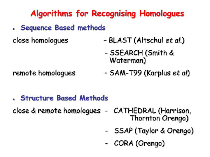 Sequence Based methods