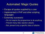 automated magic quotes