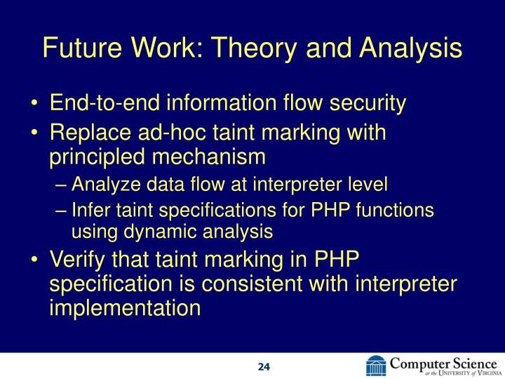 Future Work: Theory and Analysis