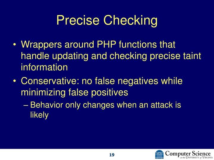 Precise Checking
