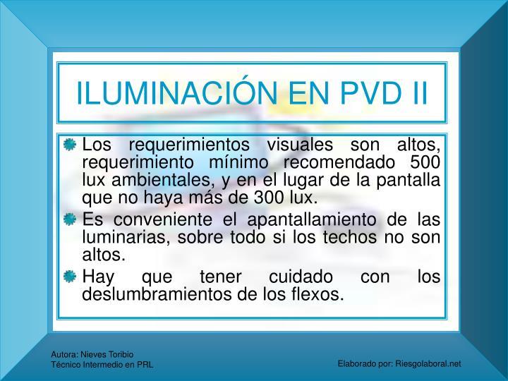 ILUMINACIÓN EN PVD II