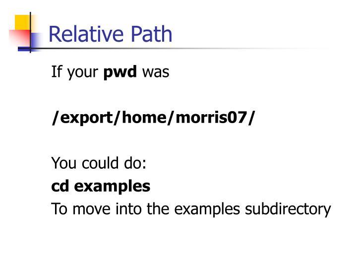 Relative Path