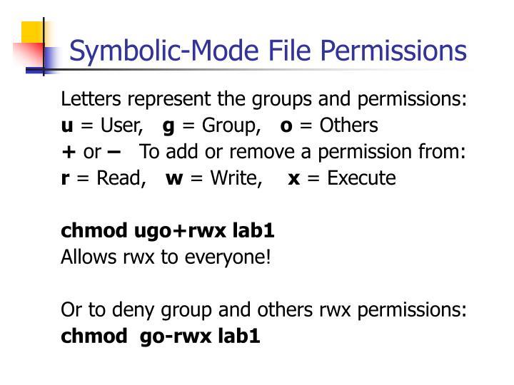 Symbolic-Mode File Permissions
