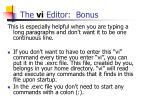 the vi editor bonus2