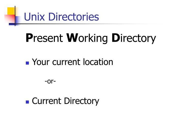Unix Directories