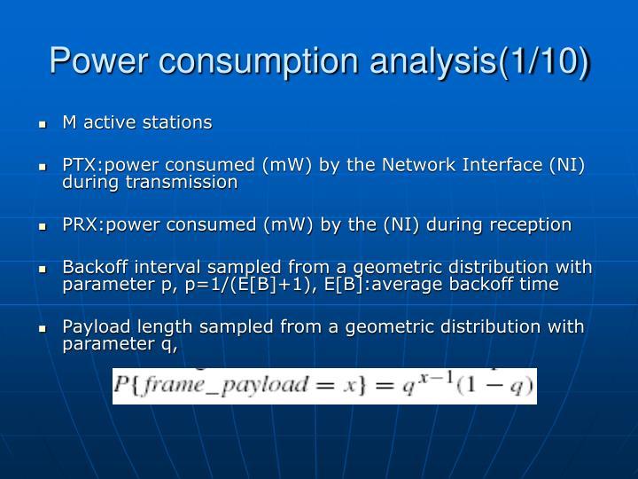 Power consumption analysis(1/10)