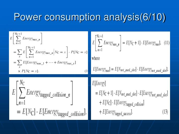 Power consumption analysis(6/10)