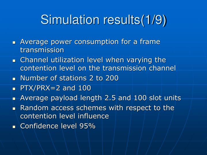 Simulation results(1/9)